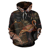 Flamingo Pattern Background Pullover Hoodie