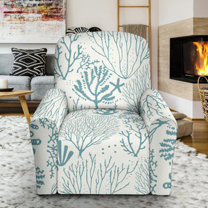 Coral Reef Pattern Print Design 02 Recliner Chair Slipcover