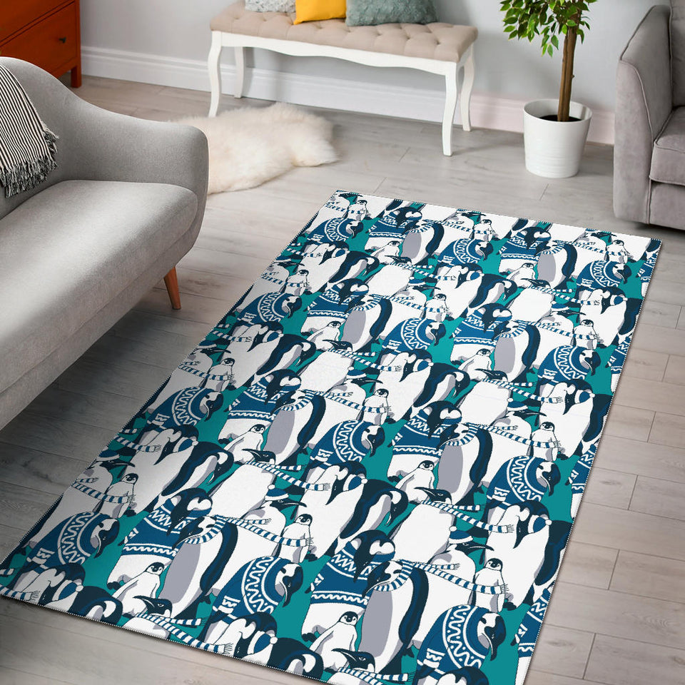 Penguin Pattern Area Rug