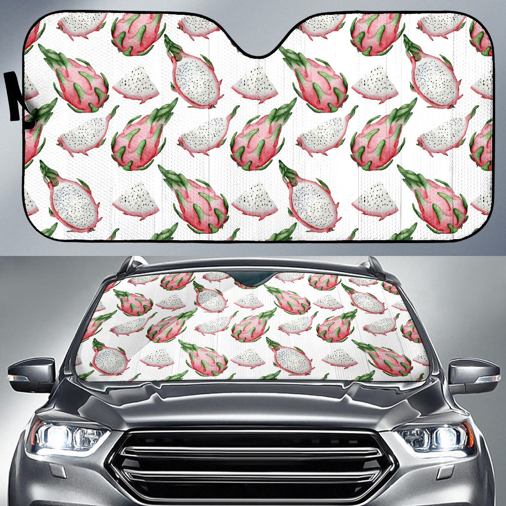 Dragon Fruit Pattern Car Sun Shade