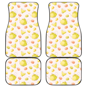 Tea pots Pattern Print Design 03 Front and Back Car Mats