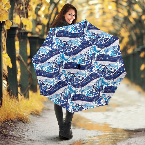 Whale Starfish Pattern Umbrella