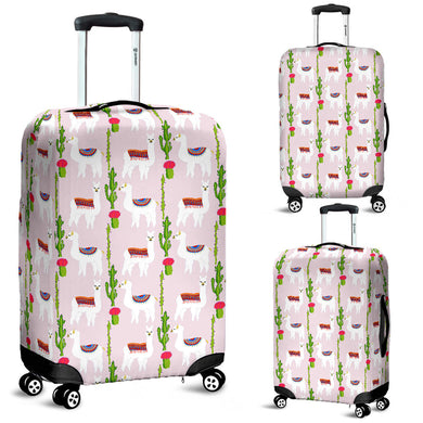 Llama Cactus Pattern Luggage Covers