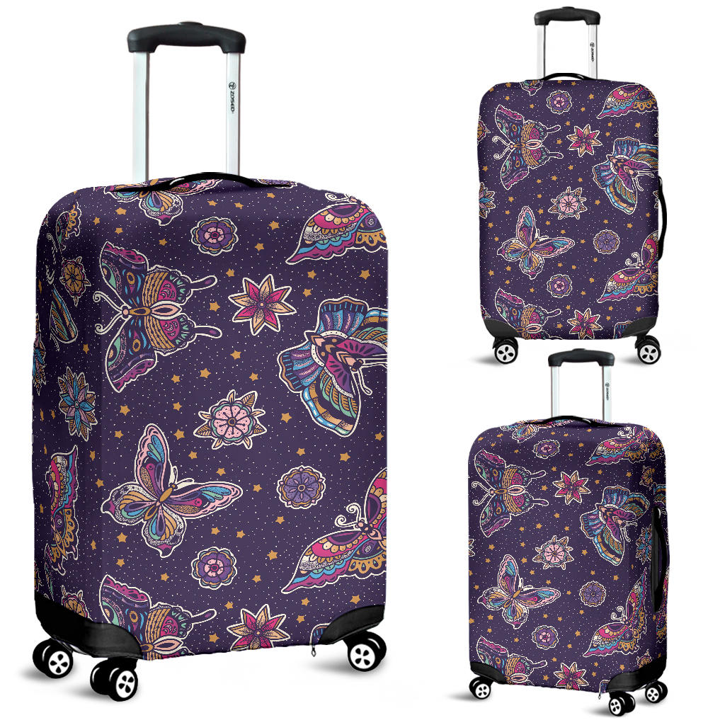 Butterfly Star Pokka Dot Pattern Luggage Covers