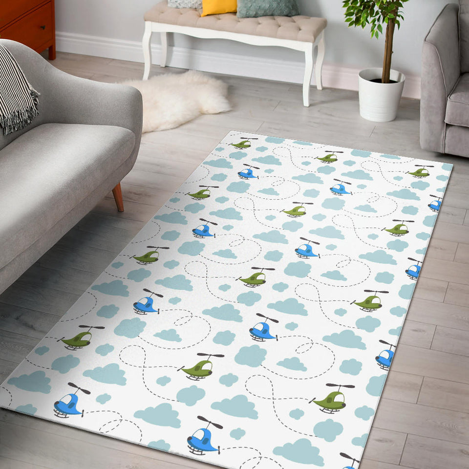 Helicopter Pattern Area Rug