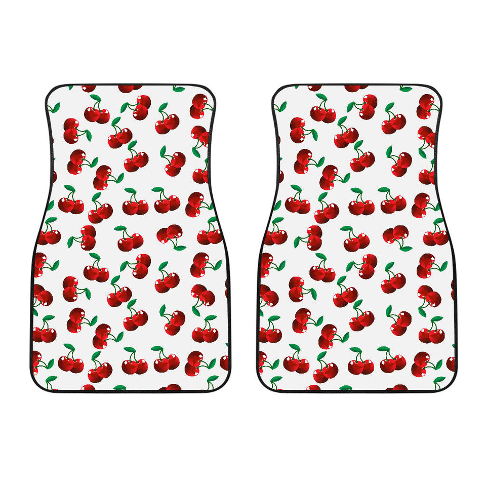 Cherry Pattern Front Car Mats