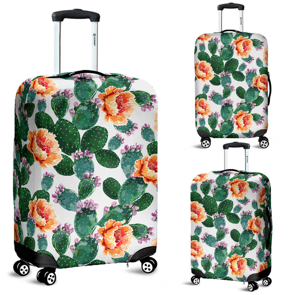 Cactus and Flower Pattern Luggage Covers