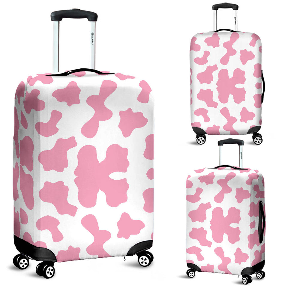 Pink Cow Skin Pattern Luggage Covers
