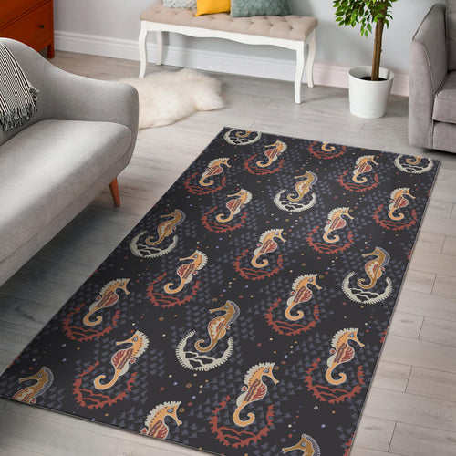 Seahorse Pattern Area Rug