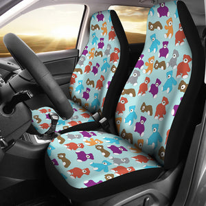 Teddy Bear Pattern Print Design 03 Universal Fit Car Seat Covers