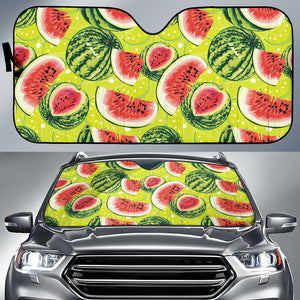 Watermelon Theme Pattern Car Sun Shade
