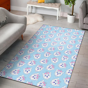 Yorkshire Terrier Pattern Print Design 01 Area Rug