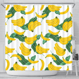 Banana and Leaf Pattern Shower Curtain Fulfilled In US