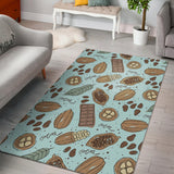 Hand Drawn Cocoa Pattern Area Rug