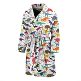 Colorful Dinosaur Pattern Men Bathrobe