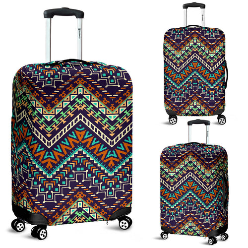 Zigzag Chevron African Afro Dashiki Adinkra Kente Pattern Luggage Covers