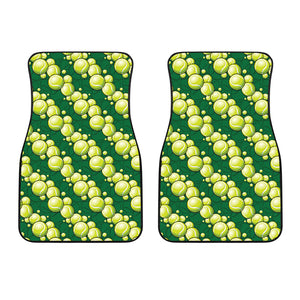 Tennis Pattern Print Design 04 Front Car Mats