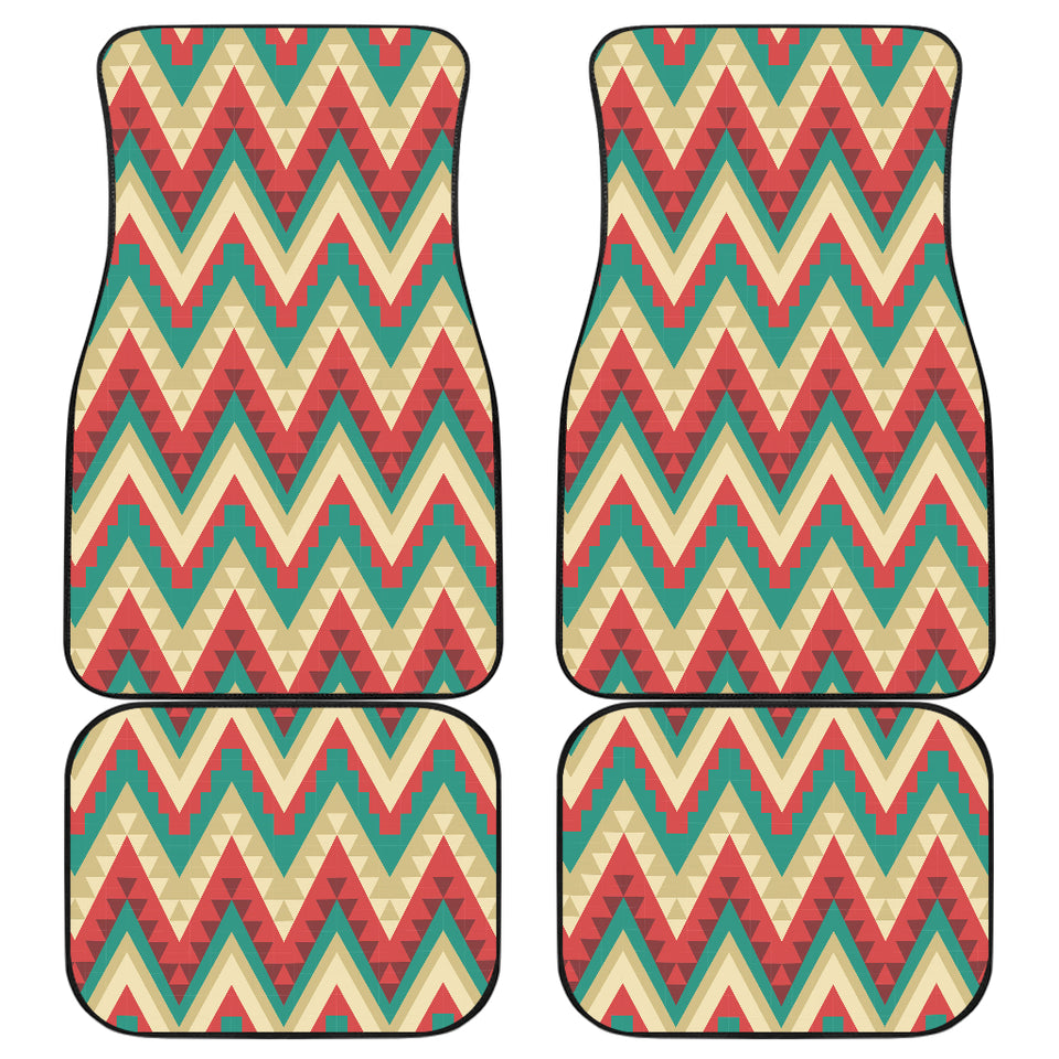 Zigzag Chevron Pattern Front and Back Car Mats