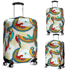Parrot Flower Pattern Luggage Covers