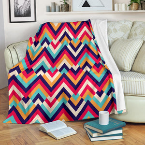 Zigzag Chevron Pattern Background Premium Blanket