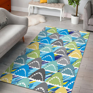 Shark Head Pattern Area Rug