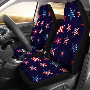 USA Star Pattern Theme Universal Fit Car Seat Covers