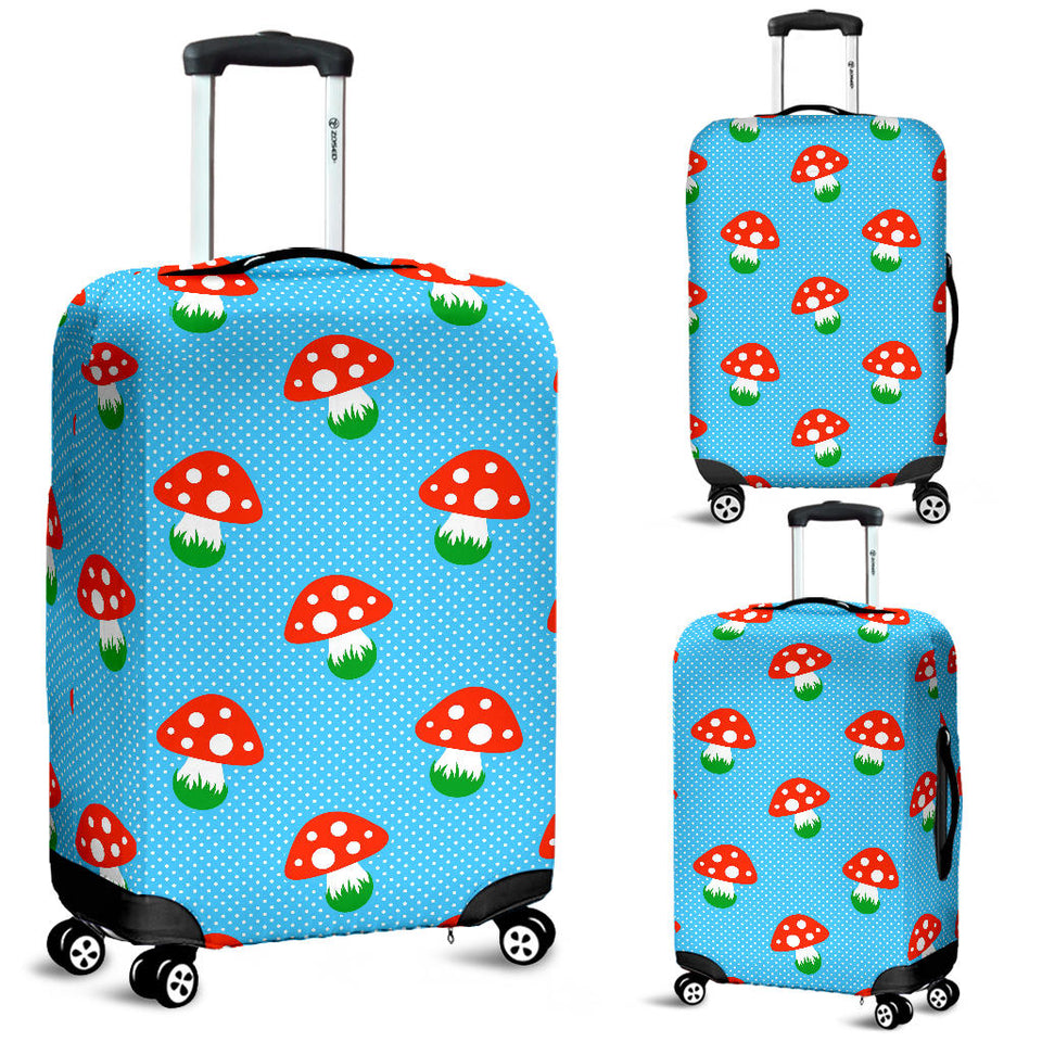 Mushroom Pokkadot Pattern Luggage Covers