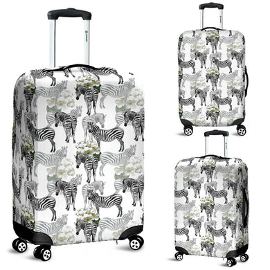 Zebra Pattern Luggage Covers