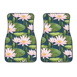 Lotus Waterlily Pattern background Front Car Mats