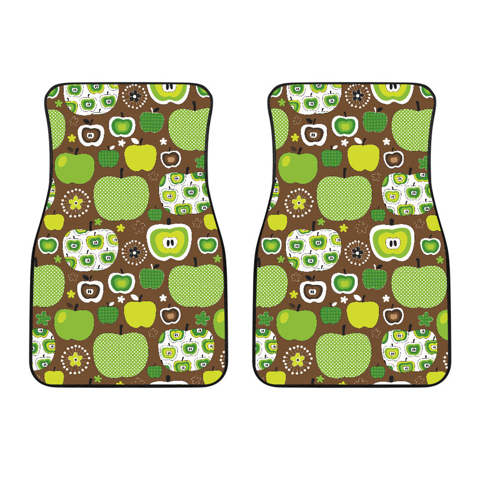 Green Apple Pattern Front Car Mats