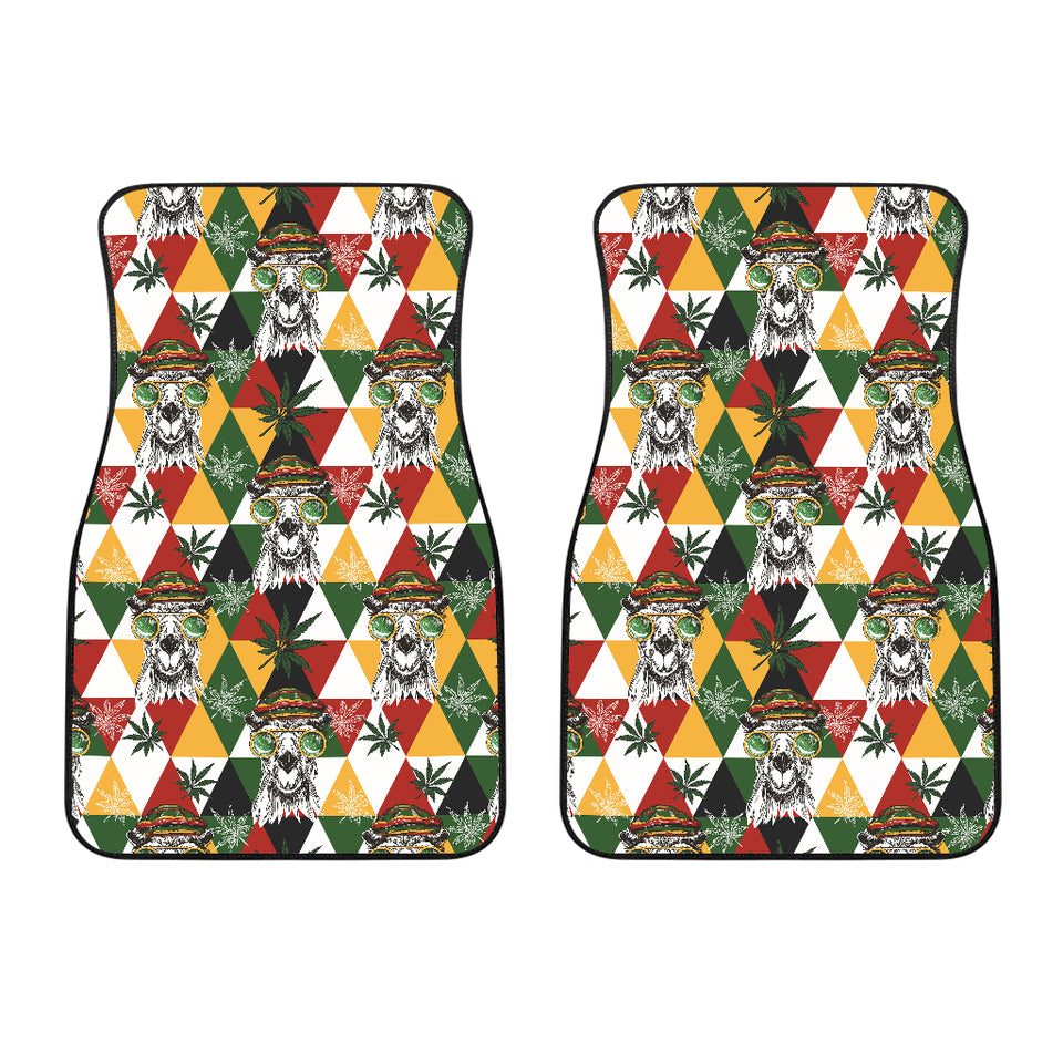 Cool Camel Leaves Pattern Front Car Mats