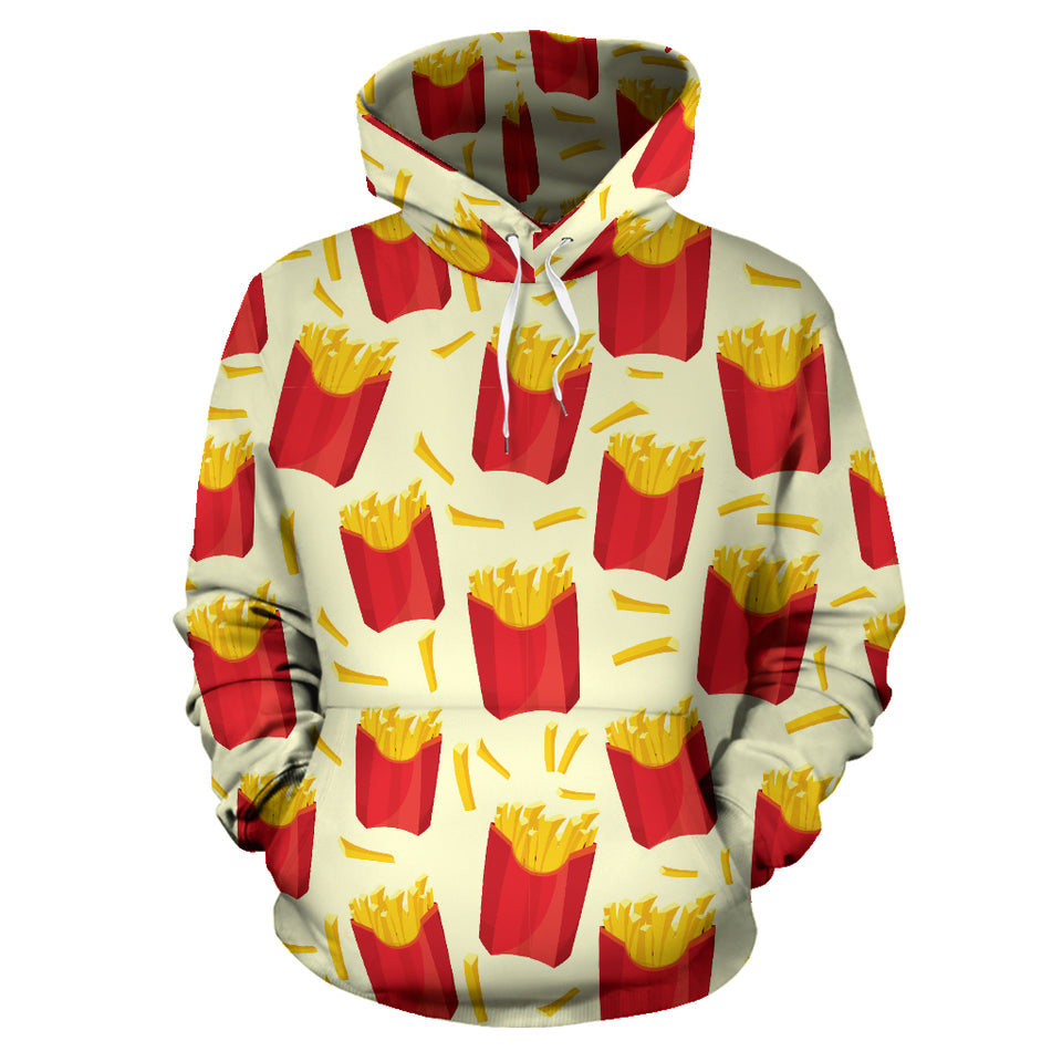 French Fries Pattern Theme Pullover Hoodie