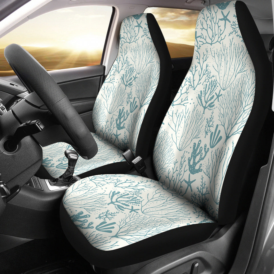Coral Reef Pattern Print Design 02 Universal Fit Car Seat Covers