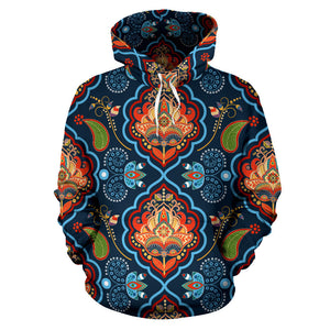 Indian Traditional Pattern Men Women Pullover Hoodie