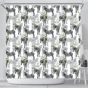 Zebra Pattern Shower Curtain Fulfilled In US