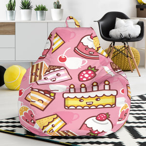 Cake Pattern Background Bean Bag Chair