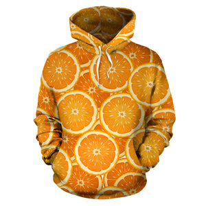 Sliced Orange Pattern Men Women Pullover Hoodie