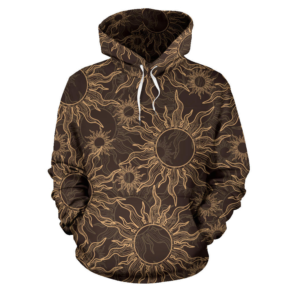 Sun Pattern Theme Men Women Pullover Hoodie