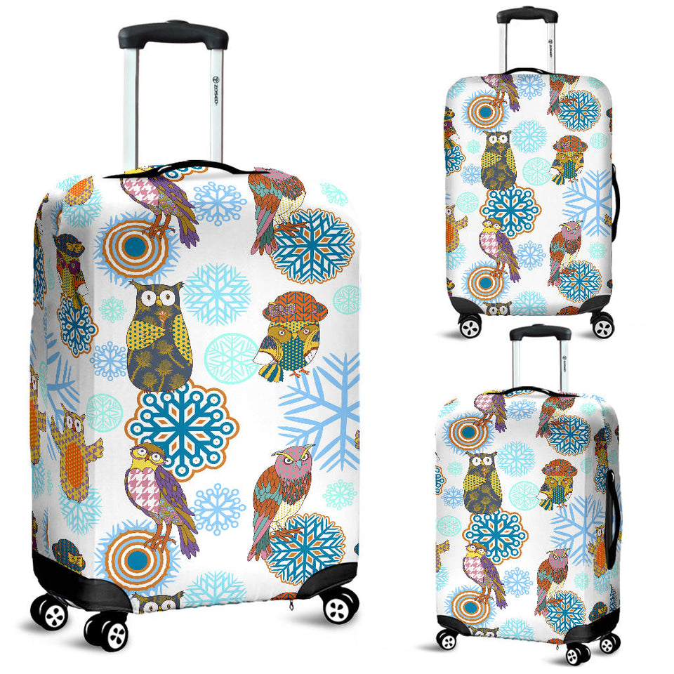 Owl Pattern Luggage Covers
