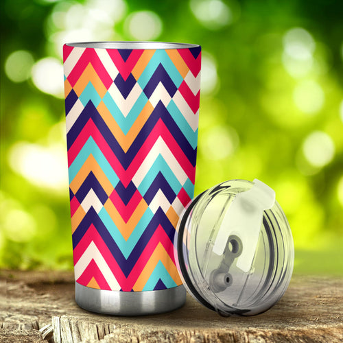 Zigzag Chevron Pattern Background Tumbler