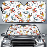 Bowling Strike Pattern Car Sun Shade
