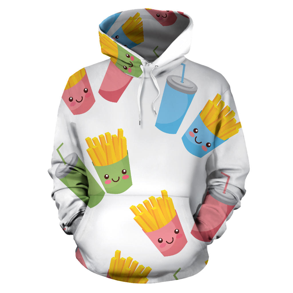 Colorful French Fries Pattern Men Women Pullover Hoodie