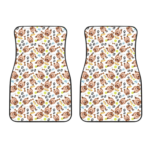 Yorkshire Terrier Pattern Print Design 05 Front Car Mats