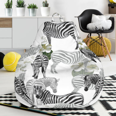 Zebra Pattern Bean Bag Chair