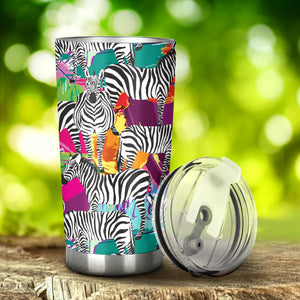 Zebra Colorful Pattern Tumbler