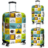 Ninja Weapon Set Pattern Luggage Covers
