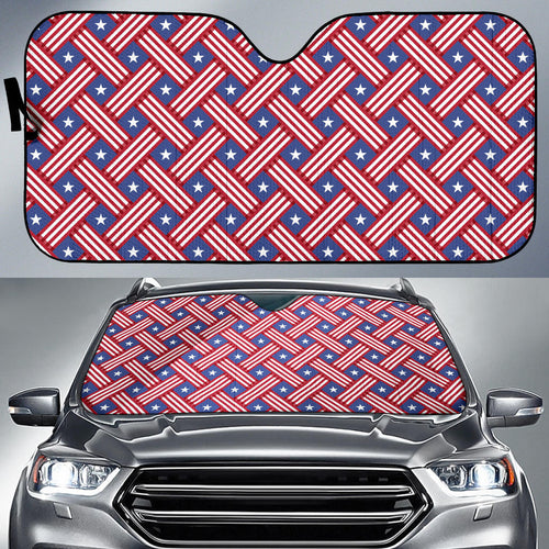 USA Star Stripe Pattern Car Sun Shade