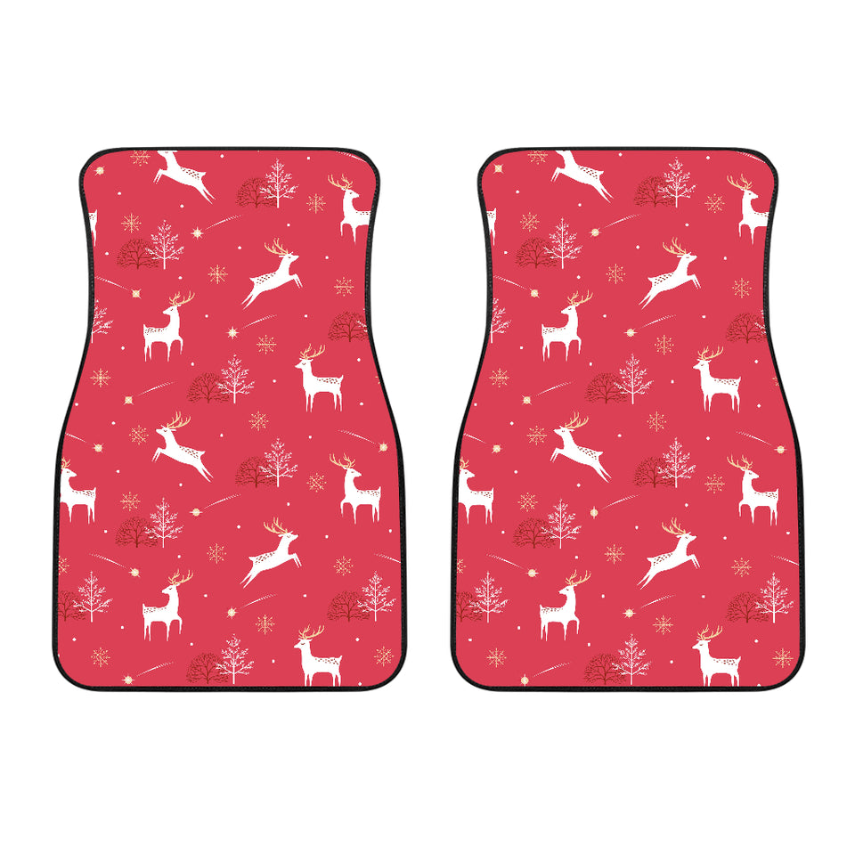Deer Pattern Background Front Car Mats