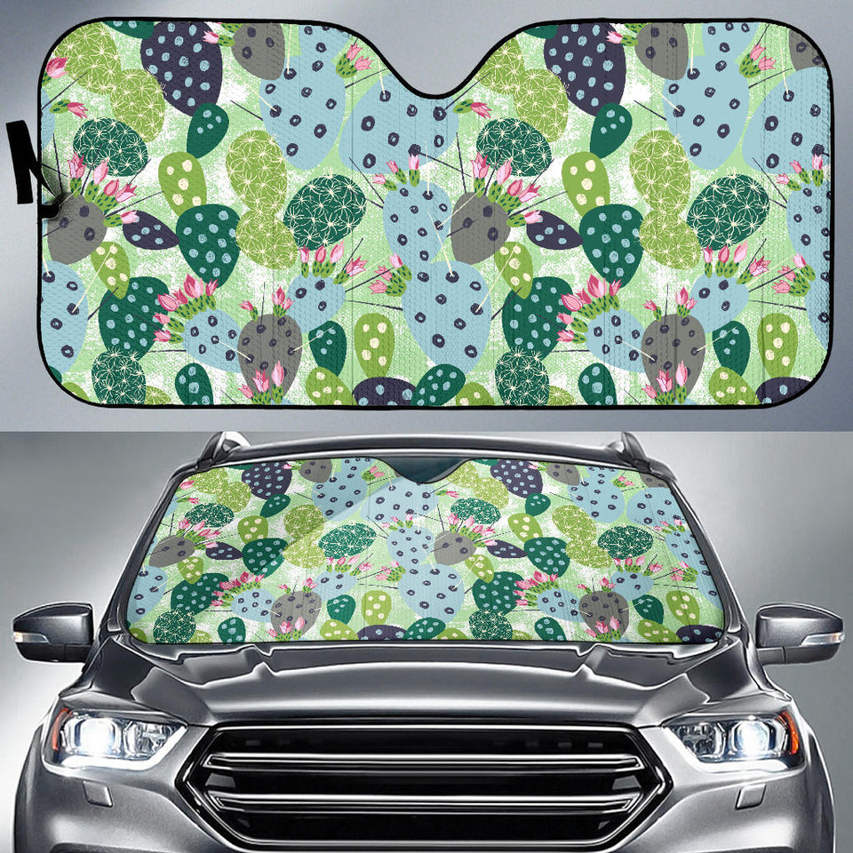 Cactus Pattern Background Car Sun Shade
