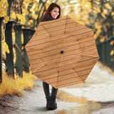 Wood Printed Pattern Print Design 04 Umbrella